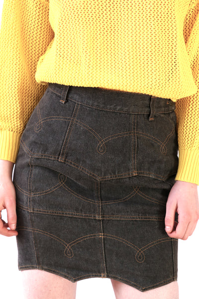 Vintage Moschino Pocket Skirt