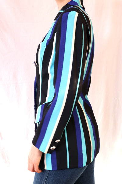 Vintage Striped Blazer