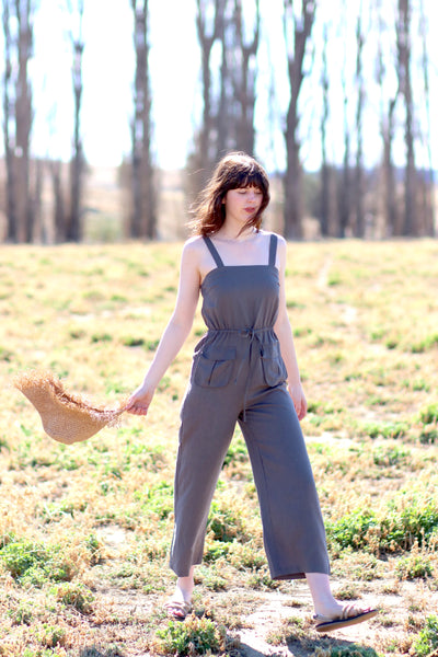 Pocket Jumpsuit (Grey) TWL323