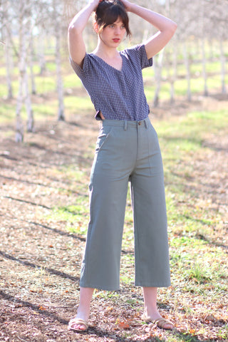 Cropped Grey Pants TWL349