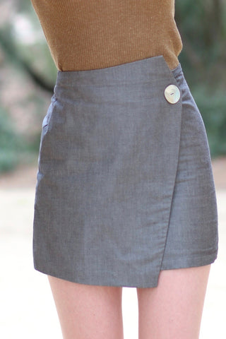 Button Point Skirt TWL333