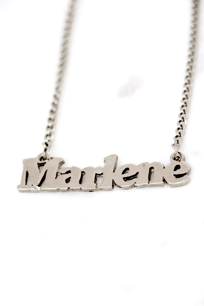 "Vintage ""Marlene"" Nameplate Necklace"