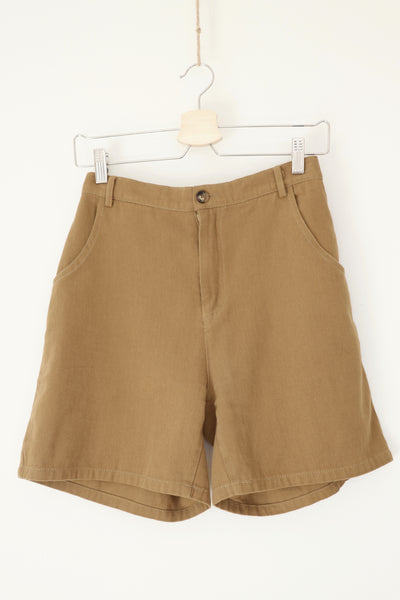 Khaki Denim Shorts TWL328
