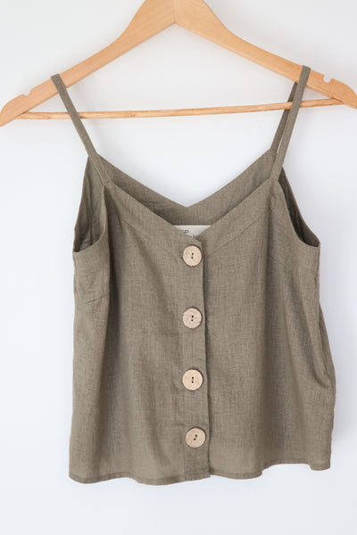 Coconut Button Top TWL319