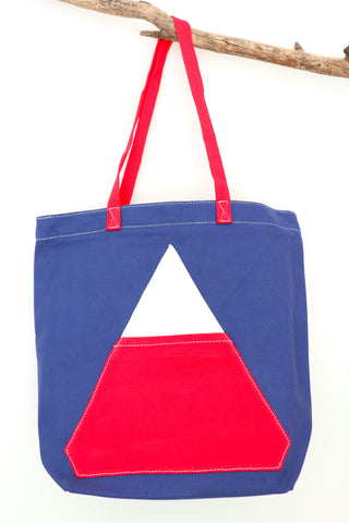 Triangle Pocket Tote Bag