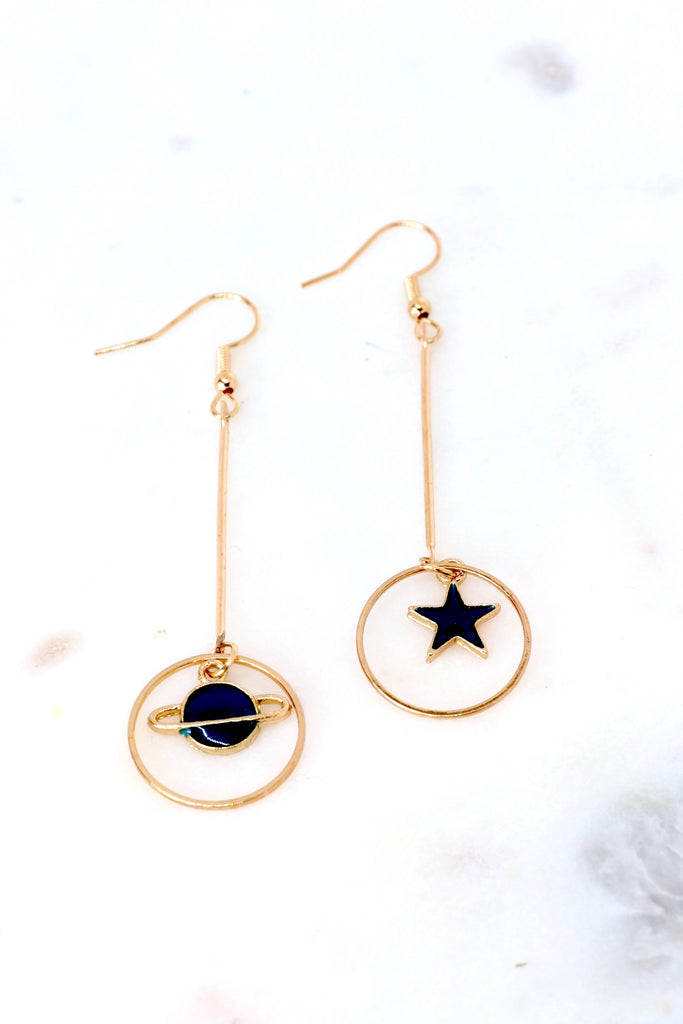 Planet and Star Earrings