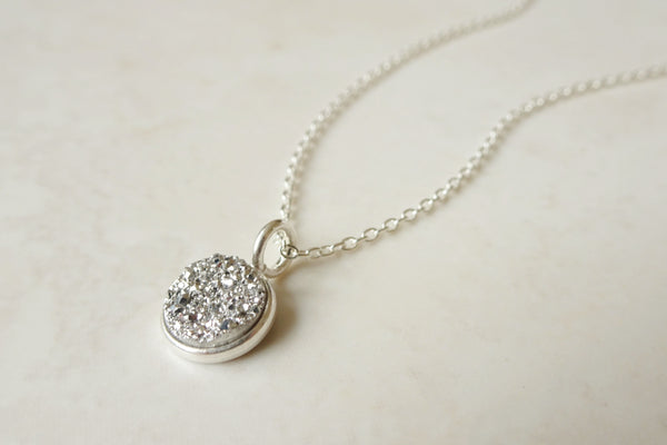 Grey Druzy Necklace