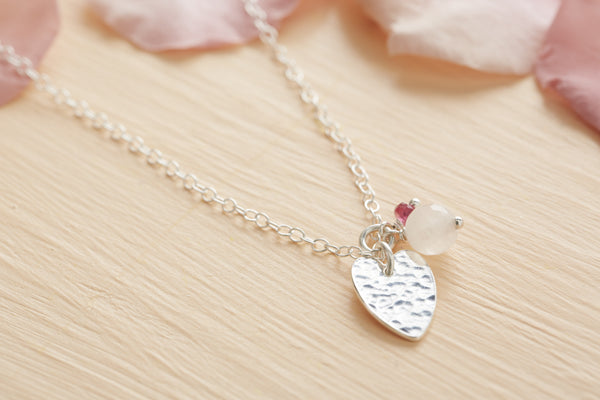 Flower Girl Heart Necklace