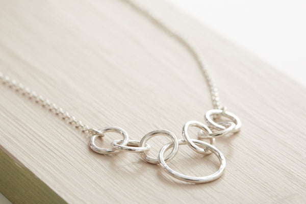 Sterling silver circle chain necklace