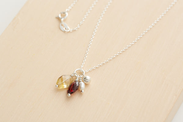 Spicy Cluster Necklace