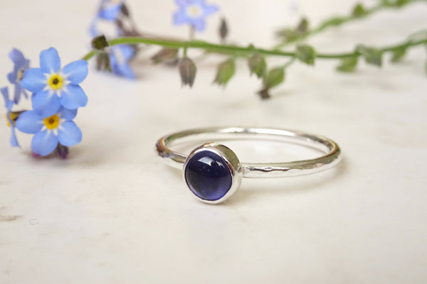Silver Iolite Ring