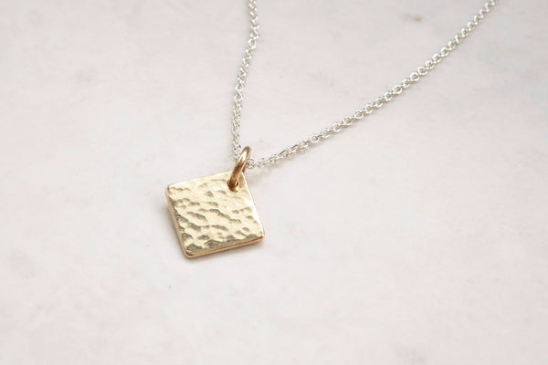 9ct Gold Square Pendant
