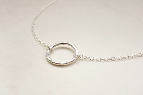 Silver Circle Choker Necklace