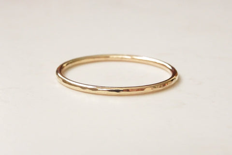 9ct Gold Skinny Wedding Band