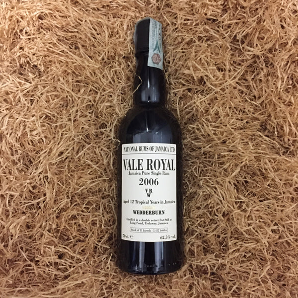 Vale Royal Jamaica Pure Single Rum 2006 VRW 12 YO