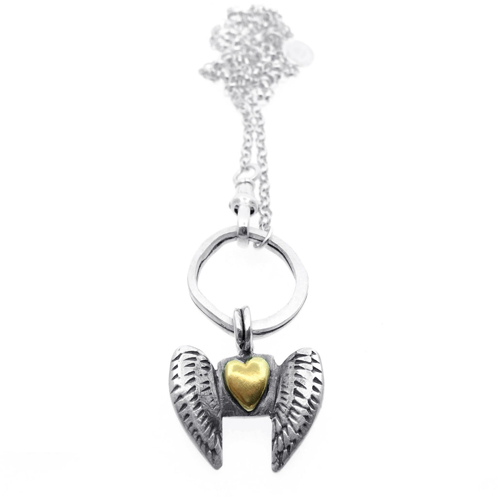 Curio Winged Heart Albert Necklace