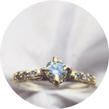 Luxe Moissanite + Diamond Solitaire