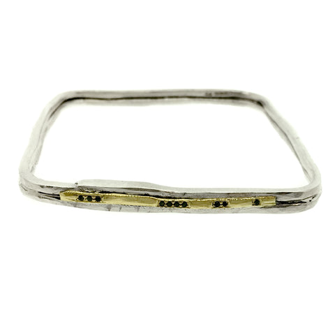 Sula Lux Square Black Diamond Bangle