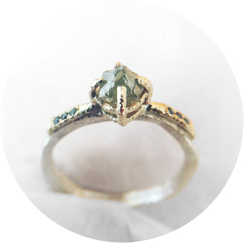 Luxe Raw Diamond Solitaire