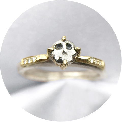 Luxe Skull Diamond Solitaire
