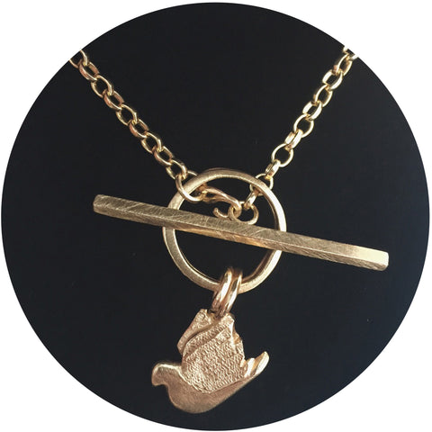 Curio Gold T Bar Necklace