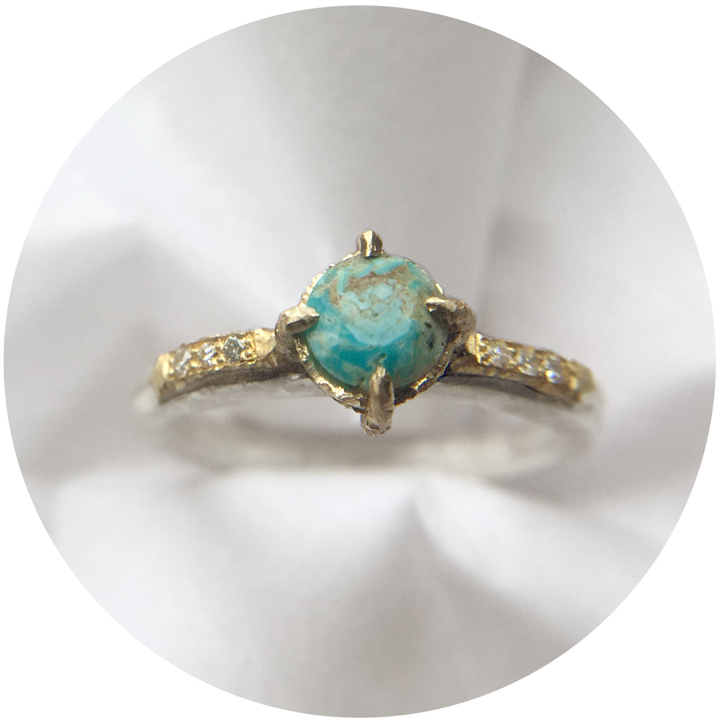 Luxe Turquoise + Diamond Solitaire