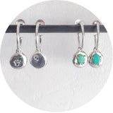 Gemstone Disc Hoops