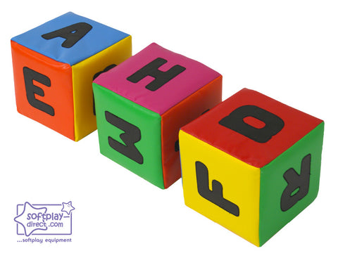 SOFTPLAY LETTER CUBES