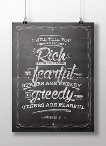 warren buffet poster I will tell you how to become rich