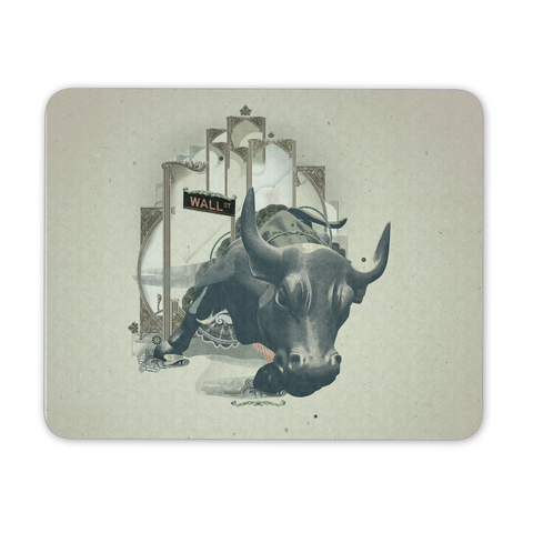 Charging Bull Mouse pad