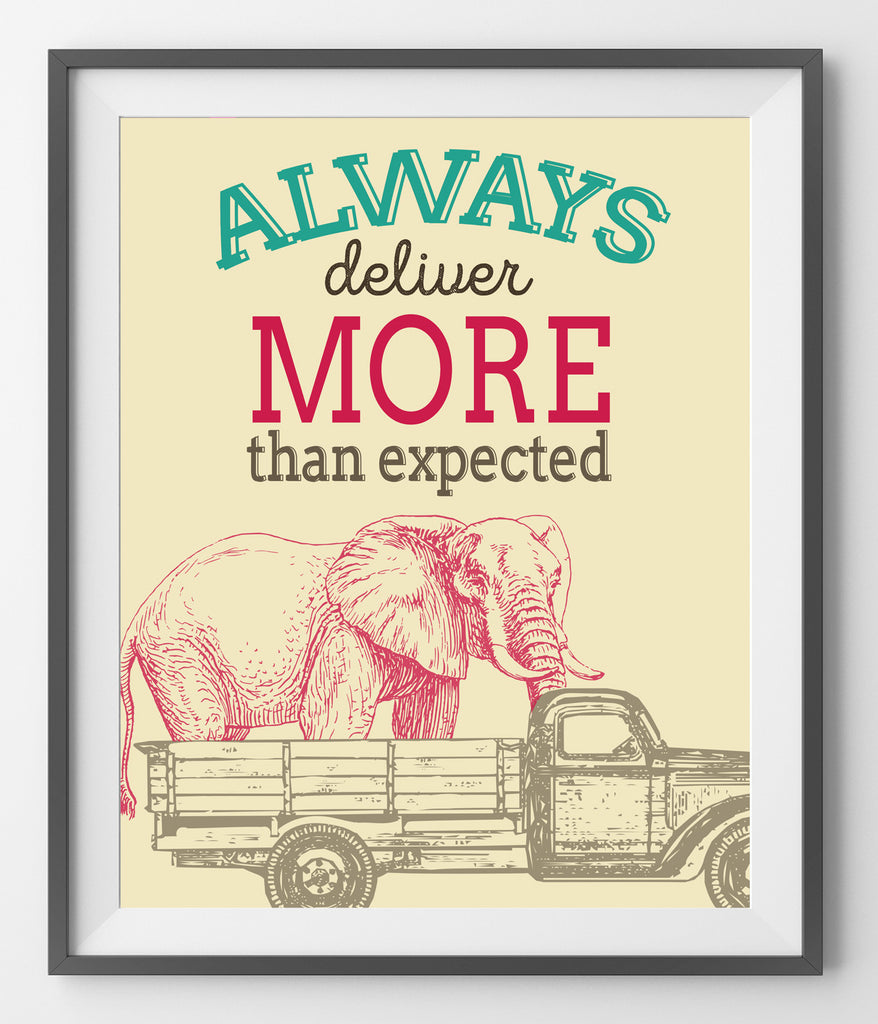 Always deliver more than expected - QUOTATIUM - 1