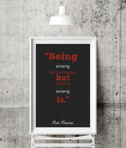BEING WRONG