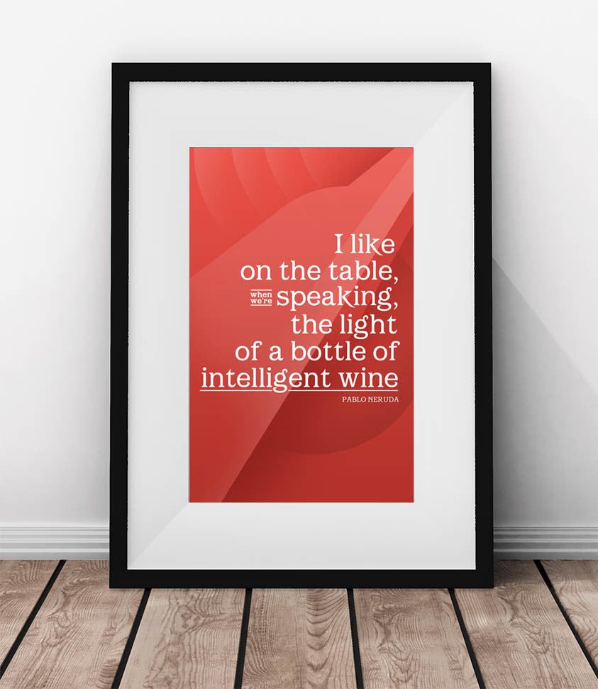 The light of a bottle of intelligent wine. - QUOTATIUM