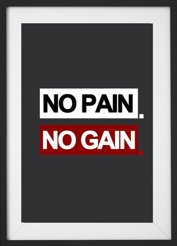 No pain. No gain. (Fitness Motivation)