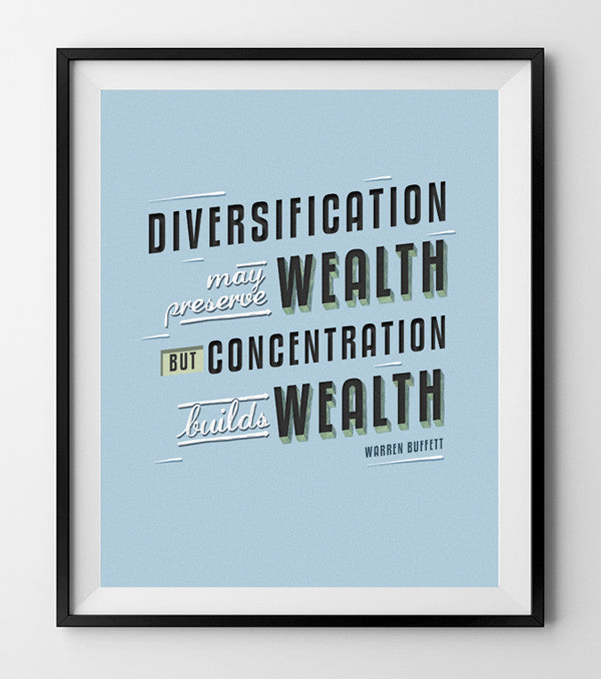 Diversification may preserve wealth.  (BLUE) - QUOTATIUM - 1