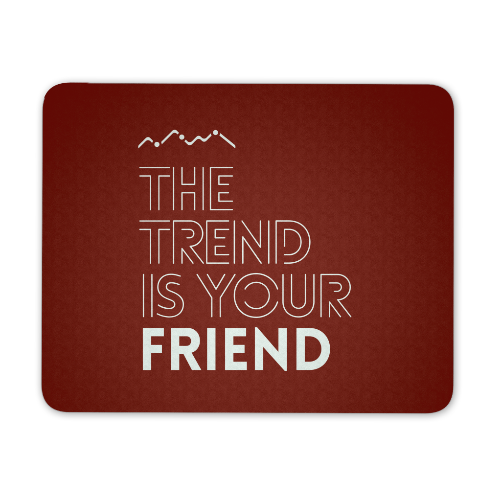 The trend is your friend, red - QUOTATIUM