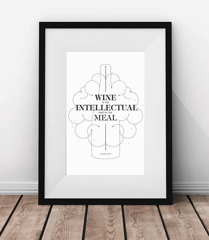 Wine is the intellectual part of the meal.