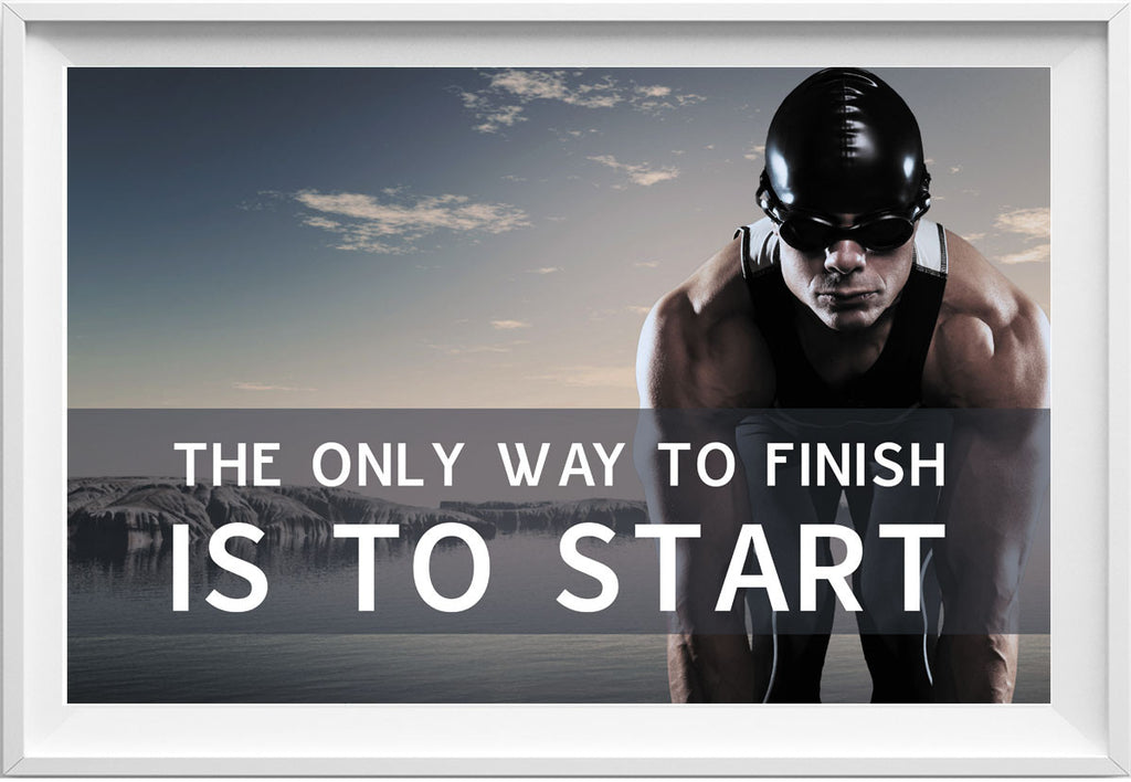 The only way to finish (Fitness motivation picture) - QUOTATIUM