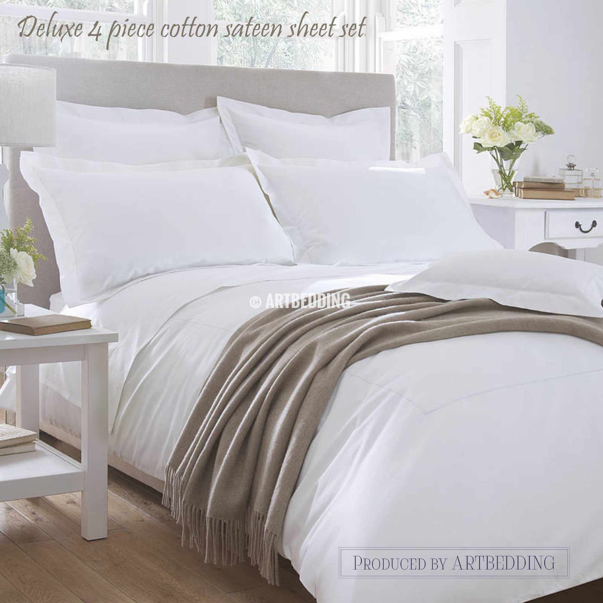 ... 560 Thread Count Deluxe Cotton Sateen Sheet Set, 560 Thread Count ...