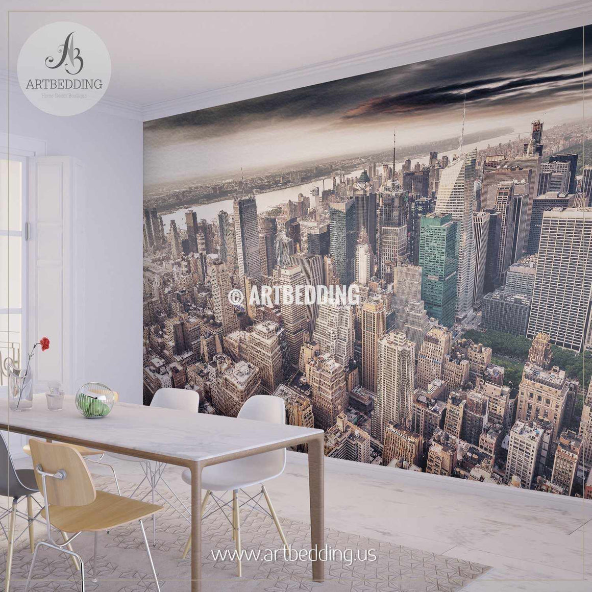 Aereal view of Manhattan Wall Mural, Photo Mural, wall décor wall mural