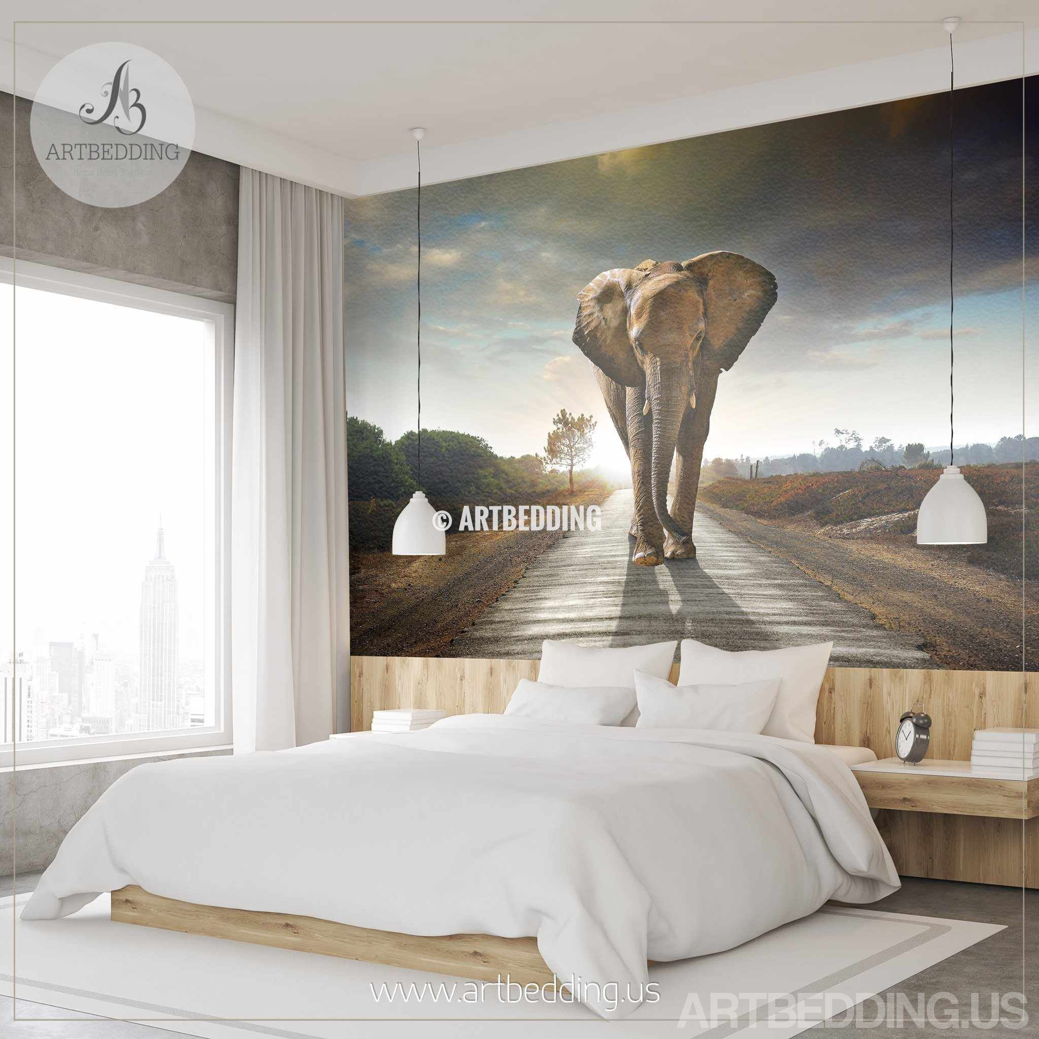 ... African Elephant Wall Mural, Elephant Self Adhesive Peel U0026 Stick Photo  Mural, Wild Africa ... Part 44