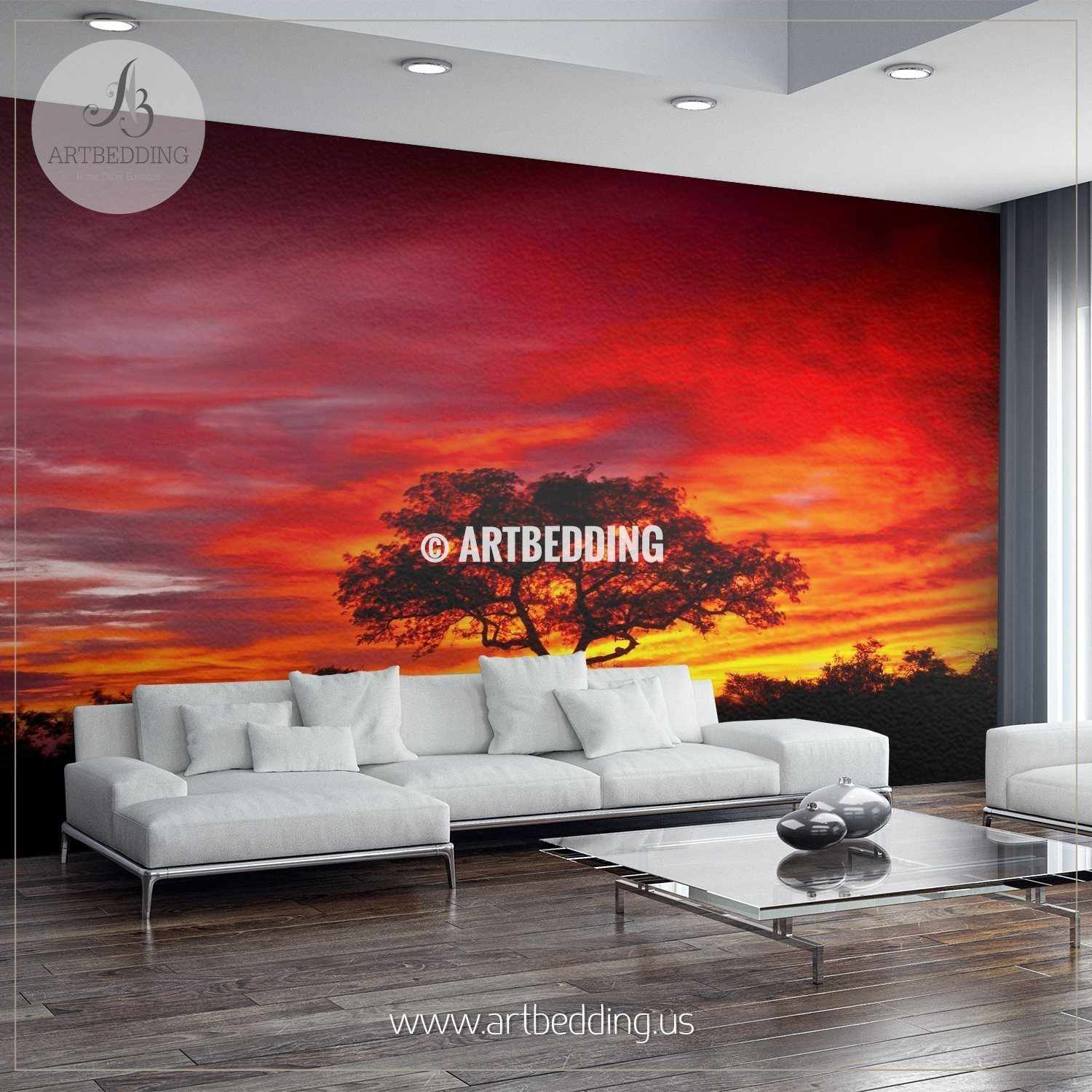 Wall murals wall tapestries canvas wall art wall for African wall mural