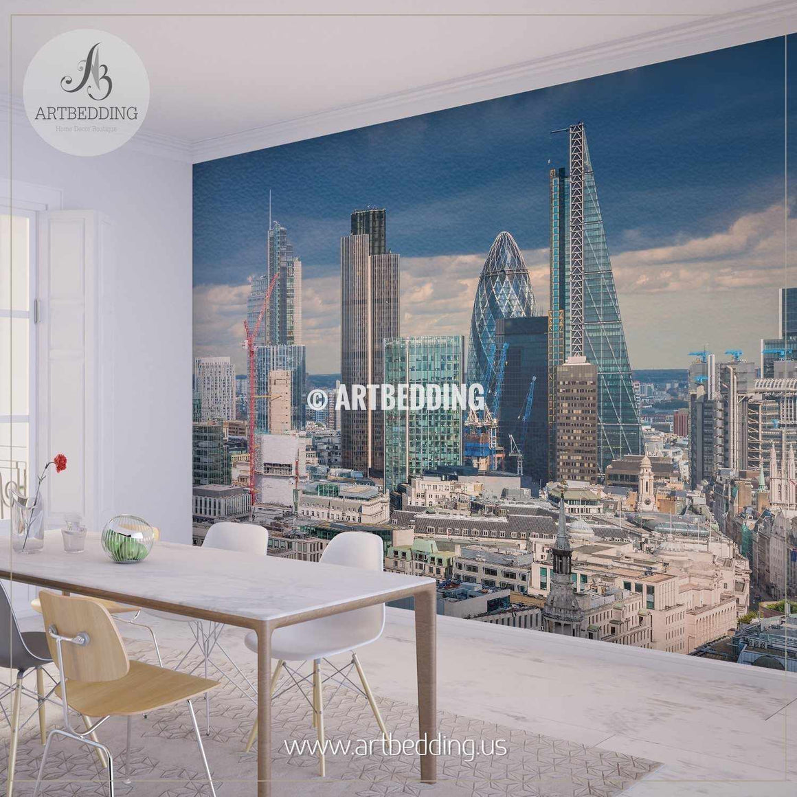 Afternoon London Wall Mural, UK Photo Mural, UK wall décor wall mural