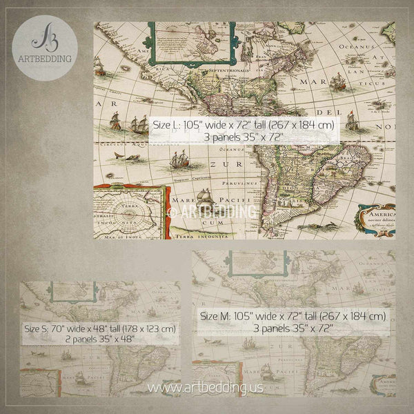 Convert comforter to duvet coverbuy bianca lorenne rafelle natural america old map bedding vintage old world map duvet cover gumiabroncs Image collections