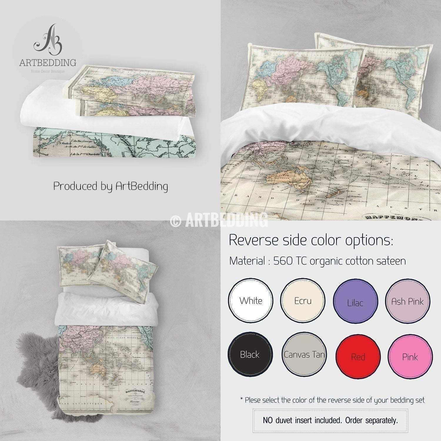Antique map of world bedding vintage old map duvet cover set antique map of world bedding vintage old map duvet cover set vintage map comforter gumiabroncs