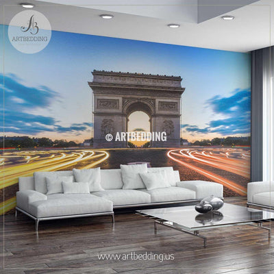 Arc de Triomphe in Paris Wall Mural, France Photo Mural, France wall décor wall mural