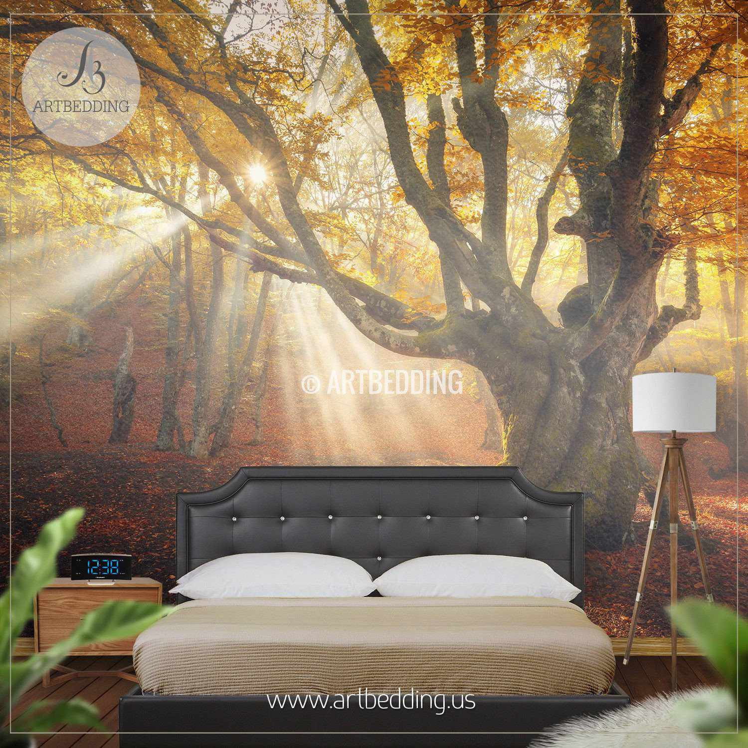 Autumn Forest Magical Old Tree photo wall mural ARTBEDDING