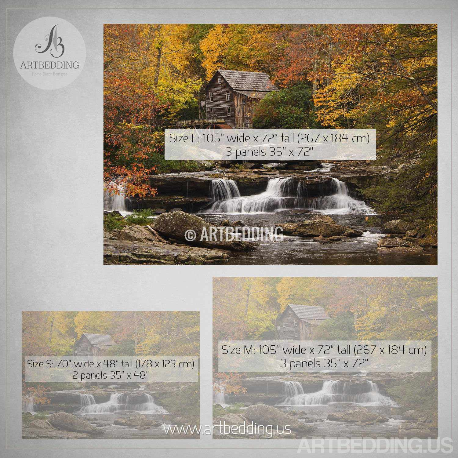 Autumn wall mural autumn scene forest watermill photo mural autumn scene wall mural autumn forest mill photo mural self adhesive peel stick amipublicfo Choice Image
