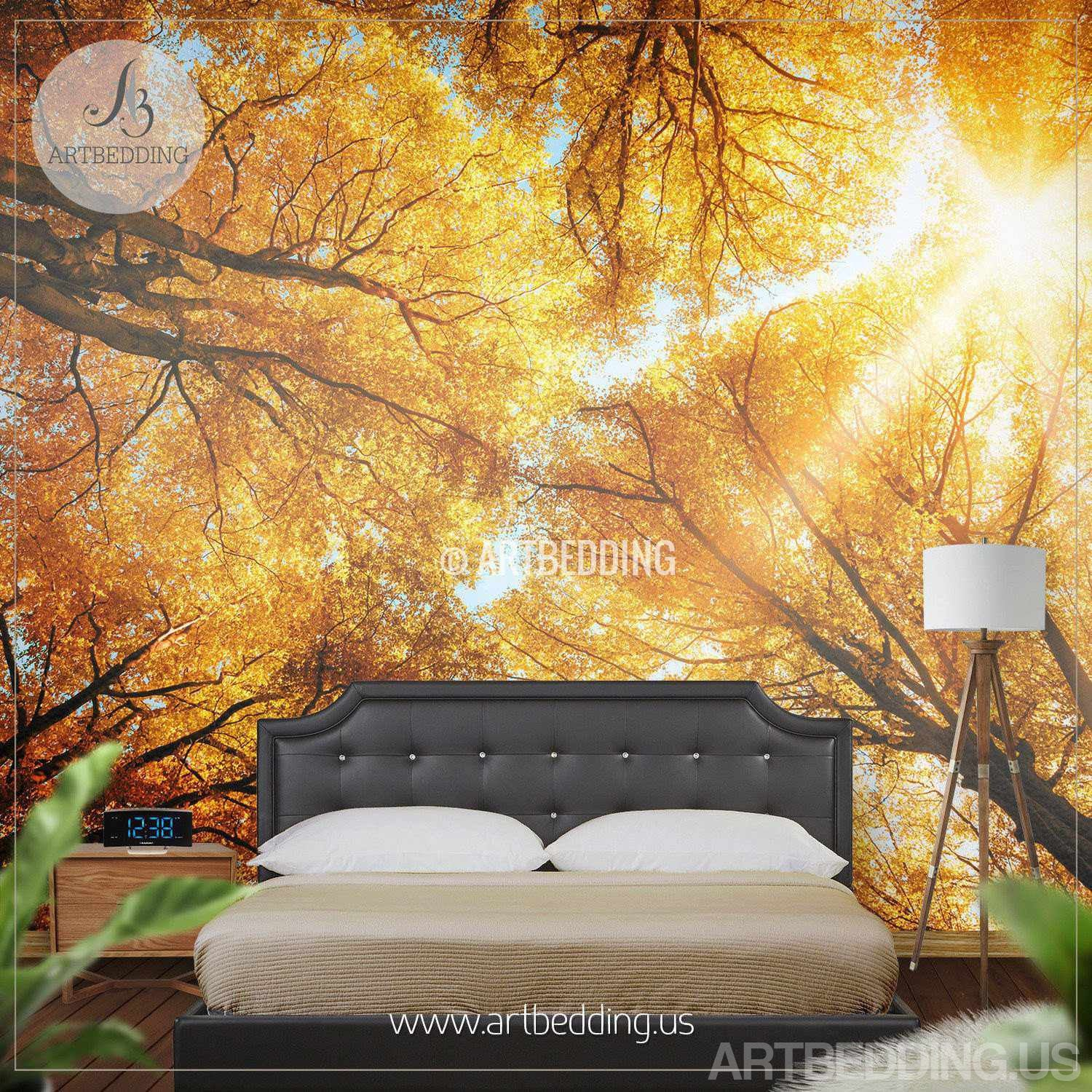 Wall Mural Autumn Treetop, Self Adhesive Photo Mural - ARTBEDDING