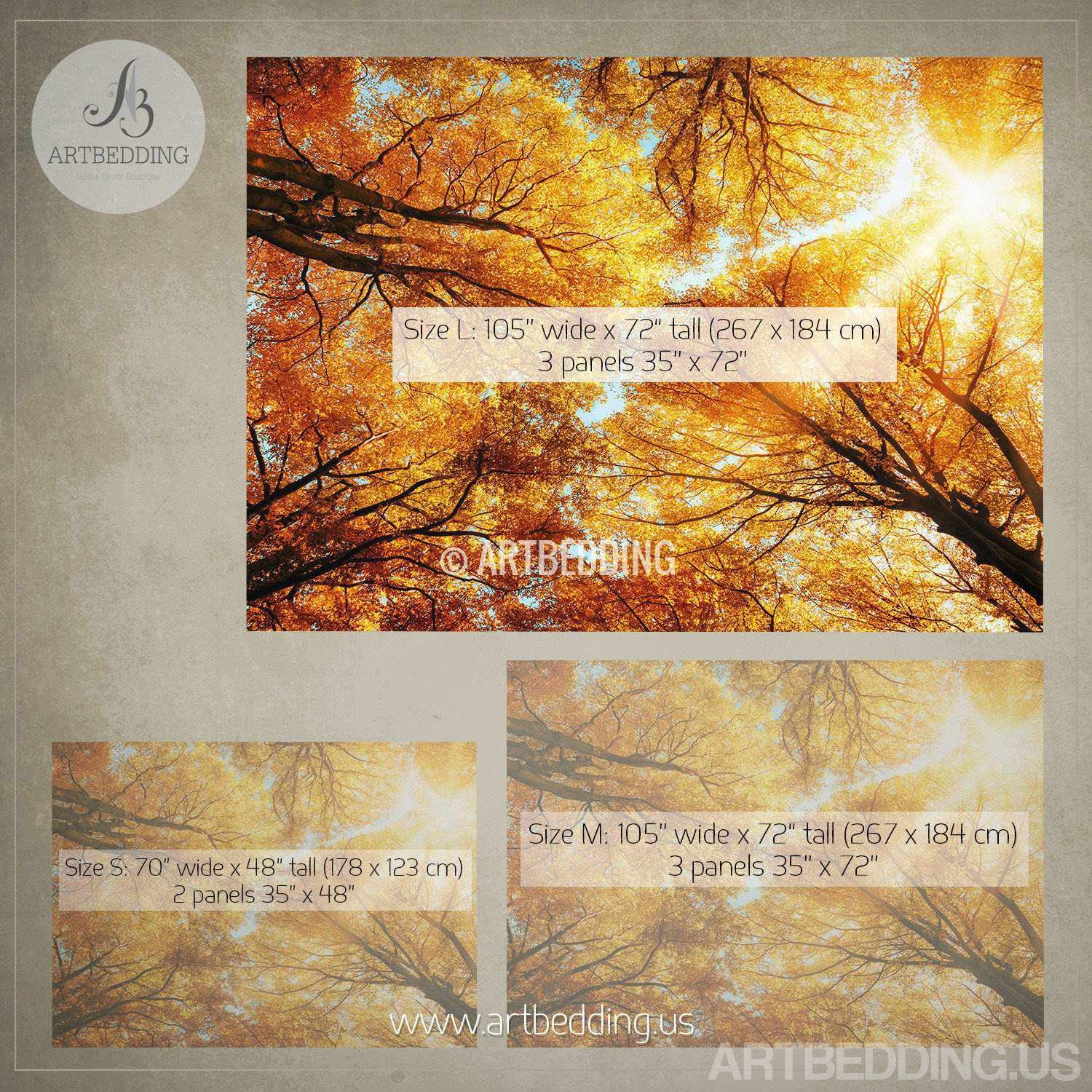 Wall mural autumn treetop self adhesive photo mural for Autumn forest 216 wall mural